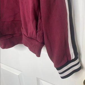 PINK Jackets & Coats - PINK burgundy semi crop hoodie